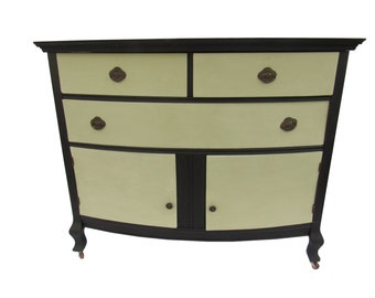 Victorian Painted Sideboard/Buffet/Dresser Cottage Painted Buffet Dresser Antique Shabby Farmhouse Sink Base Bathroom Vanity Kitchen Sink