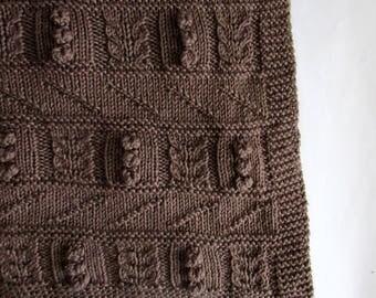 Liezl Sampler Baby Blanket Knitting Pattern - INSTANT PDF DOWNLOAD