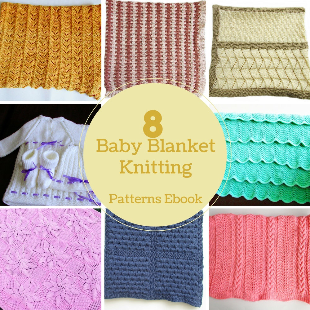 8 Baby Blankets Knitting Patterns Ebook PDF Download