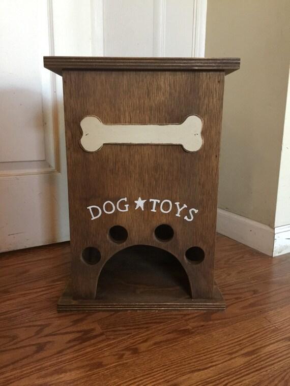 Primitive Dog Toy Storage Box With Bone