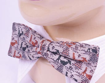 Vintage Ormond N.Y.C 50s Clip-on Bow Tie // Gentleman Bow Tie Formal Party Dapper Dandy Wedding Bow