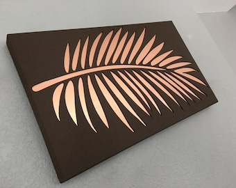 Palm leaf  -    Leaf  -  Metal Palm Leaf   -   Metal Art - Home Decor