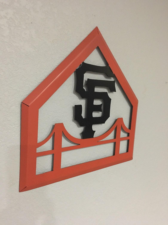 san francisco giants home decor wall hanging metal art. Black Bedroom Furniture Sets. Home Design Ideas