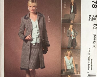 McCall's 4978 OOP Sewing Pattern to MAKE Suit Wardrobe Separates Size 8-14