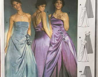 8321 Absolutely stunning evening gowns. Tube top or one shoulder, Romantic wedding dress, bridesmaid dress, evening gown