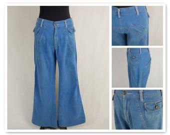 Vintage Womens 70's Aventura Bellbottom Denim Flares Jeans Pants