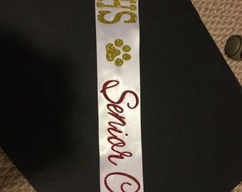Senior Cheer Sash-Senior Tennis Sash- Glitter Senior Tennis Sash- Personalized Custom Senior Sash- Pro- Homecoming and Senior Sash