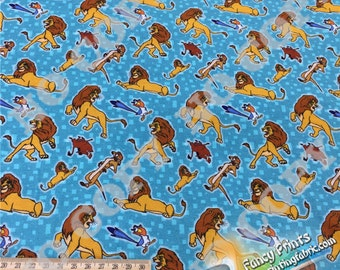 The lion king fabric, digital printing, cotton jersery, swim jersey, pul, minky FCM65 - 1 meter