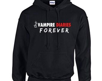 The Vampire Diaries Forever HOODIE Fan Inspired Series Finale Hooded Sweatshirt Vampire Show