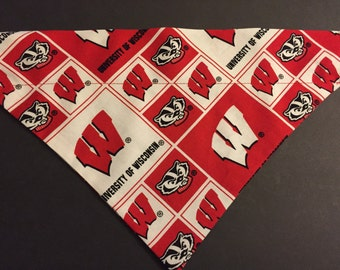 Dog Bandana, University of Wisconsin Badgers