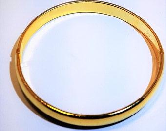 Vintage Ladies Bangle Bracelet 18K Gold Vermeil  Hinged Bangle A Quality Bracelet