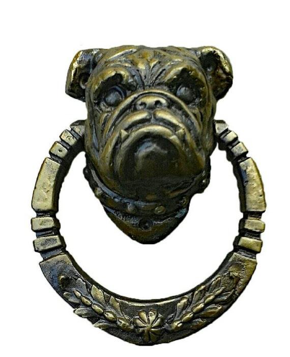 Bulldog door knocker dog animal french bulldog puppy boxer from fabbricreations on etsy studio - Bulldog door knocker ...