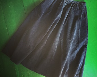 Vintage Navy Corduroy Skirt