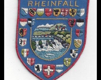 Rheinfall Vintage Switzerland Souvenir Travel Patch