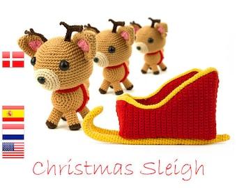 Crochet pattern Christmas Sleigh