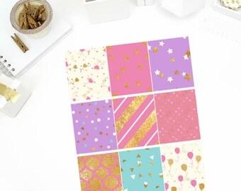 Celebration Full Boxes Stickers! Perfect for your Erin Condren Life Planner, calendar, Paper Plum, Filofax!