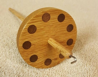 Chestnut and Walnut Drop Spindle