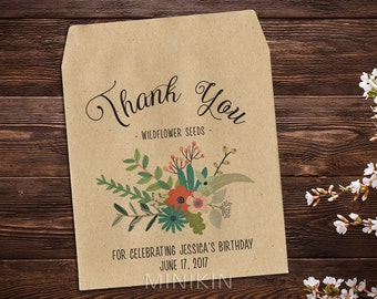 Personalized Birthday Favor, Birthday Favor, Seed Packet Favor, Seed Favor, Personalized Gift, Birthday Favor, Birthday Seed Favor x 25
