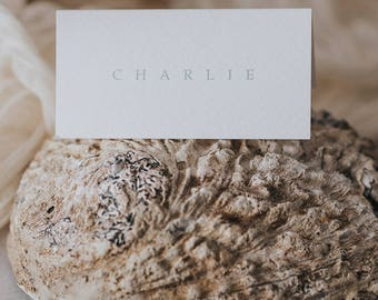 Simple and stylish serif font place cards. Wedding place cards - perfect for wedding table decoration.