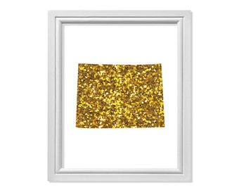 Gold State of Colorado State, Map of Colorado State, Colorado Wall Art, Map Colorado, Map of the State of Colorado Map States, Colorado Gift