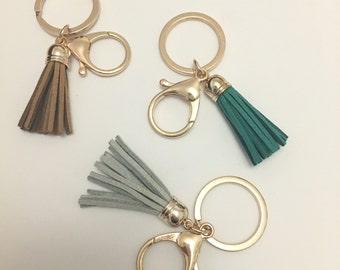 43mm Coloured Tassel Keyring / Keychain / Bag Charm