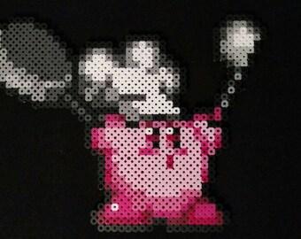 Chef Kirby perler bead sprite pixel art