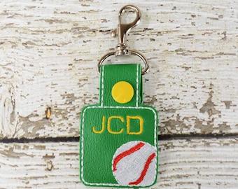 Baseball Keychain - Bag Tag - Zipper Pull - Bag Accessory - Small Gift