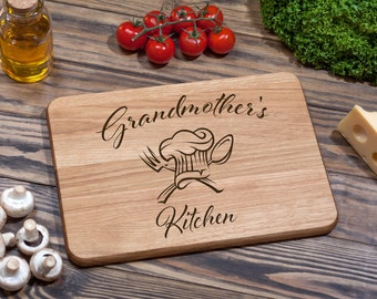 Grandmother Custom Cutting Board Cutting Board Personalized Wood Cutting Board Anniversary Gift Grandmother Gift Mothers Day Gift