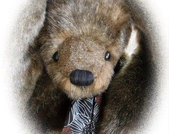Tabbee, OOAK Artist Bunny, BearFolk & Friends, Lil Darlin Original, Bunny, Original Pattern, Handmade, Teddy Bear, Bunny