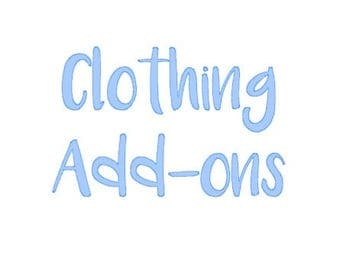 Clothing Add-Ons: Border/Outline, Multiple Print Colors, Front and Back