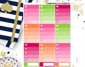 12 Sherbet Collection Ombre Box and Appointment Planner Stickers! KT413
