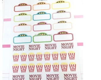 40 Movie Night Planner Stickers! AE301