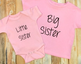 Valentine's Day Shirt Set Big Sister Little Sister Shirt Set Sister Outfits Shirts Matching Sibling Shirt Matching outfits Matching shirts