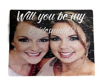 Will you be my Bridesmaid Puzzle - Bridesmaids Proposal Gift - Custom Puzzle Gift - Photo Puzzle - Maid of honor Gift - Personalized Gift