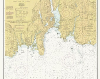Long Island Sound Map - North Shore - 1990