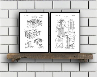 Camping Patent Prints, Camping Set of TWO, vintage Camping Invention Patent, Camping Poster, Camera Print, Camping, Camping Tent SP269