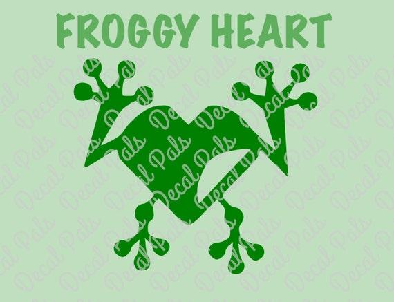 Froggy heart fcm svg png cut files for t shirt tote bag for T shirt printing pasadena tx