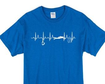 Heart Beats for Swimming T-Shirt