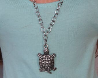Silver Turtle Necklace for American Girl and other 18 inch dolls