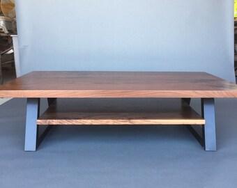 walnut coffee table   etsy