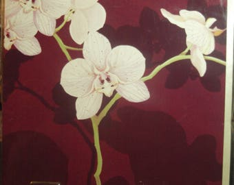Landscape Orchid Birthday Card