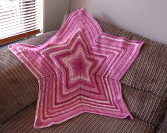 Crochet Star Blanket Baby