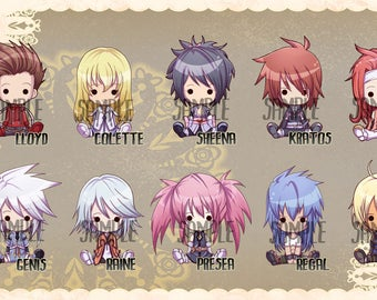 Tales of Symphonia inspired Keychains