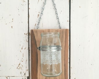 Reclaimed Wood Wall Sconce, Candle Sconce, Candle Holders, Wall Decal, Wall Decor, Rustic Decor, Sconces, 5th Anniversary, Rustic Wedding,
