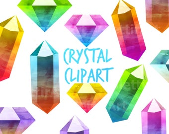 Crystal Clipart, Diamond Clipart, Gemstones Clipart, Gems Clipart  for personal and commercial use, scrapbooking, planner stickers