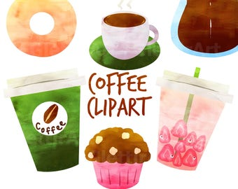 Coffee Clipart, Coffee Clip art, Coffee Graphics, for personal and commercial use, scrapbooking, instant download, planner stickers