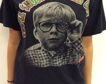 Throwback A Christmas Story Shoot Your Eye Out Print T shirt