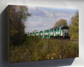 Canvas 24x36; Go 558 Pulling East From Guildwood