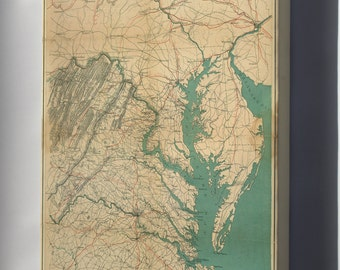 Canvas 24x36; Map Of Eastern Virginia, 1862 P2