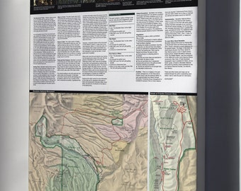 Canvas 24x36; Map Of Bandelier National Monument Park, New Mexico 1998